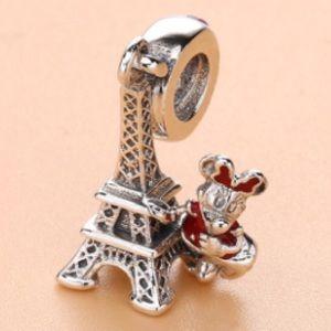 Minnie Visits Paris Bracelet Charm